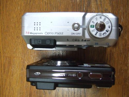 DSC-W170 vs Optio 750Z