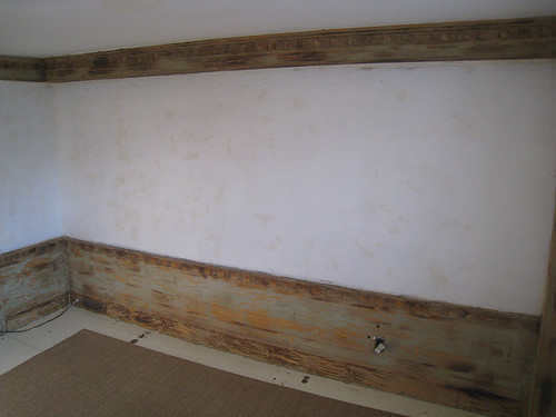 Long Wall Stripped of Paint