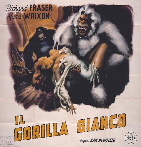 IL GORILLA BLANCO (WHITE PONGO) Italian one sheet