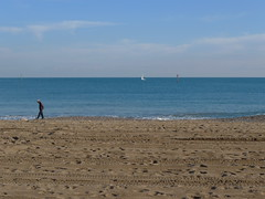 P1000345 (ezioman) Tags: barcelona travel sea vacation holiday beach walking person coast seaside spain sand europa europe mediterranean mediterraneo mare playa barceloneta catalunya barcelonetabeach