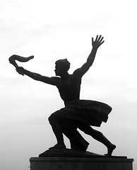 (AnDre | MA_sight) Tags: travel white black silhouette budapest ornament statua buda pest controluce gellert