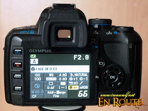 Olympus E-420 DSLR Super Control Panel