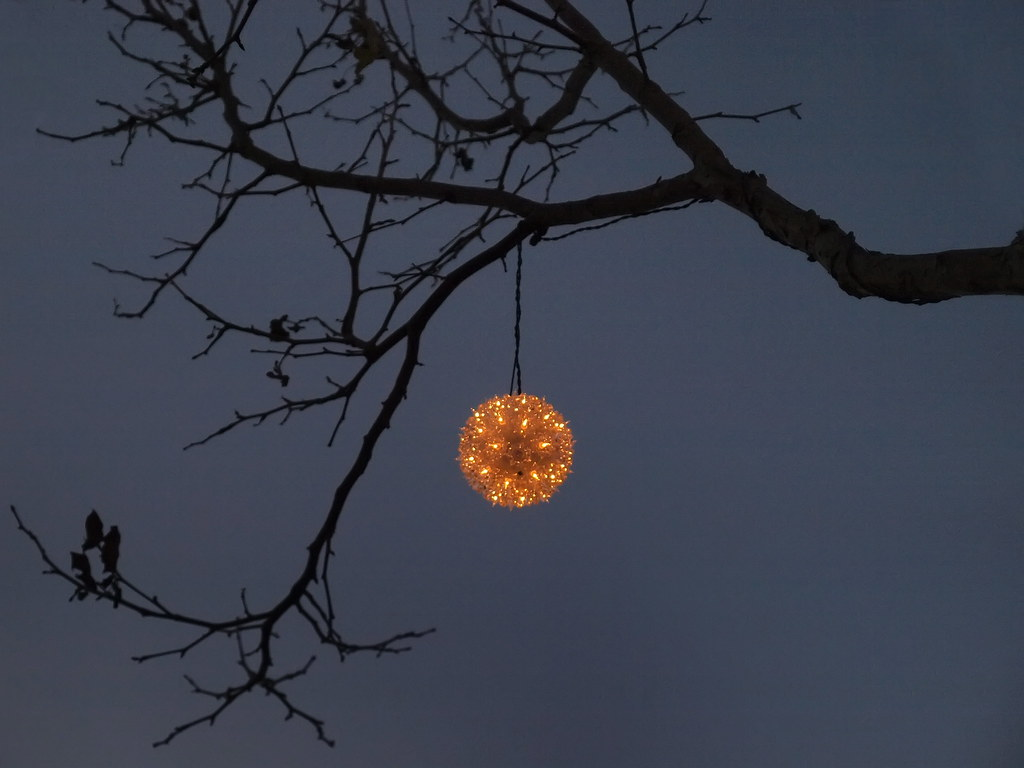 Christmas Orbs at Twilight