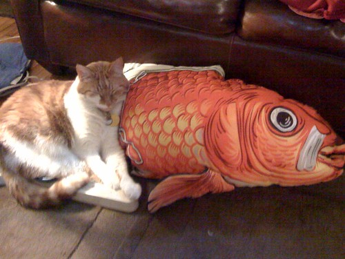 Huck with giant fish
