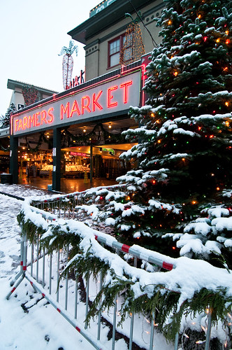 Snowy Pike Place Market