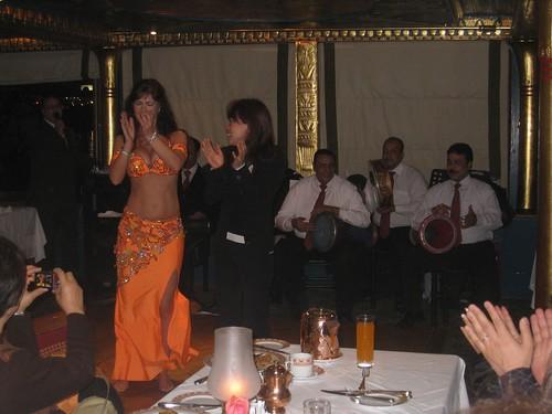 Bellydancer on Nile cruise
