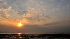 "Cloudy Sunset ""ing"" @ , Hong Kong (ColmanLi) Tags: sunset beach hongkong nikon fx platinumphoto d700"
