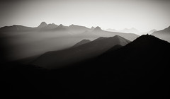 (AcuraZine Dan) Tags: mist mountains rock fog sunrise smoke glaciernationalpark canonefs1755mmf28isusm