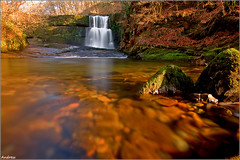 Stranded (andrewwdavies) Tags: longexposure winter wild cold water river geotagged nationalpark scary breconbeacons waterfalls icy stranded meet wfc soaking powys pontneddfechan deepwater circularpolariser canonefs1022mmf3545usm afon rhaeadr earlybird ystradfellte brycheiniog neutraldensity mellte clungwyn welshflickrcymru waterfallswalk canoneos40d neathandporttalbot andrewwilliamdavies sgwduchafclungwyn bannaubrecheiniog bwnd106 pontmelinfach geo:lat=51789957 geo:lon=3560203