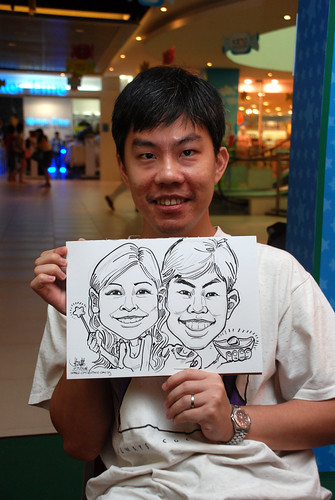 Caricature live sketching for Marina Square Day 2 - 7