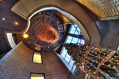 staircase at mont parnes (helen sotiriadis) Tags: christmas holiday tree architecture canon stair published christmastree athens casino greece staircase canon350d hdr canonefs1022mmf3545usm parnitha montparnes toomanytribbles