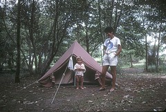 Camping de Golfo di Sognu : Laurent et Nicole devant LA tente
