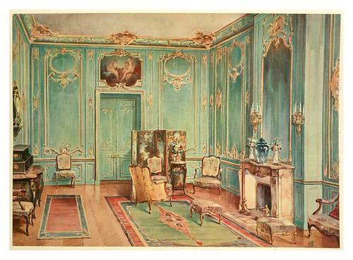 004- Gran salon estilo Luis XV- acuarela 1907