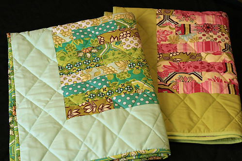 A set of baby quilts