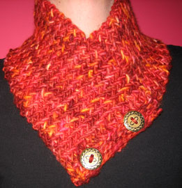 Kaitlyn's Herringbone Neck Warmer