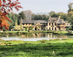 Queen's Cottage (` Toshio ') Tags: lake paris france fall mill fairytale pond europe farm wideangle palace swans versailles hdr europeanunion marieantoinette palaceofversailles kinglouisxiv toshio chteaudeversailles queenshamlet marlboroughtower colorphotoaward theunforgettablepictures queenscottage petittrainon fairytalehamlet chateauxdetrainon