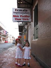 Bourbon Street walkers (G. J. Charlet III) Tags: