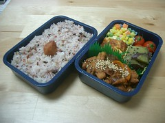 End of the year bento... (skamegu) Tags: tomato rice bento japanesefood tamagoyaki stirfry    mixedveggies