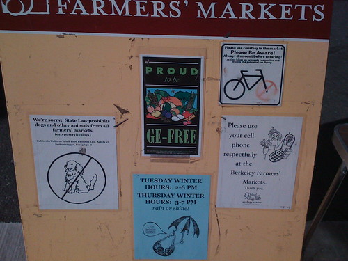 Sad Sign At Berkeley Farmers Market