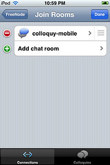 Mobile Colloquy - Connection Edit Autojoin