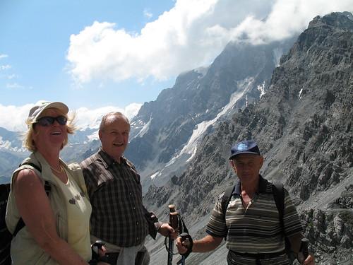 Blick von der Tabarettahütte aus in Richtung Ortler (3902 m)