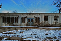Abandoned (lizzee.dailey) Tags: old winter sky snow abandoned clouds nikon kingsparkpsychiatriccenter nikond60