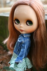 here she is! (cybermelli) Tags: brown hair monkey milk doll princess lips sugar biscuit blythe limited edition gaze defect mag corrected bisquit squeaky rbl qpot