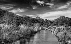 in search of peace in b&w (Kris Kros) Tags: california ca bw usa white lake black photography high dynamic malibu hills and range 2009 hdr kkg agoura photomatix maliboulake kriskros 5xp malibou kkgallery