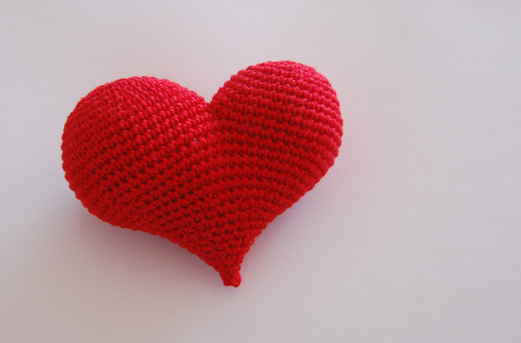 Pop Heart Pattern Cinnamon Purl