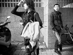 * (YENTHEN) Tags: street people bw men guy waiting candid hsinchu taiwan yenthen r0018727