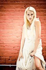 Victoria Leigh (Tate Dominguez) Tags: portrait hot sexy girl fashion wall model tate bricks blond brickwall blonde highkey dominguez vintagedress grouptripod tatedominguez victorialeigh