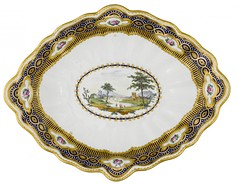 A Derby porcelain lozenge shaped dessert dish, c.1790 (Enlightenment!) Tags: