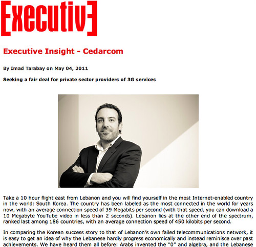 Cedarcom: Seeking a fair deal for private sector providers of 3G services,  May 2011 (English)