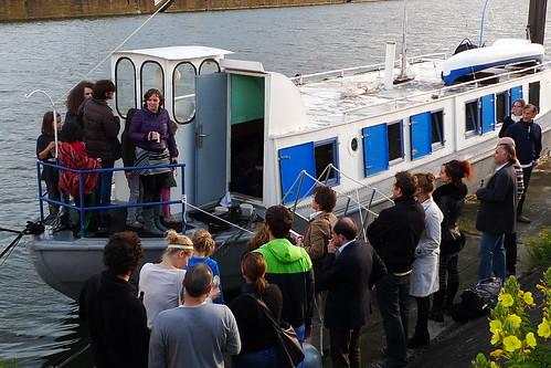 Kunstschiff Schute Vita am Kai. Juni 2011