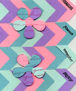 Greeting Card with Punch Corner Shapes
