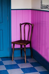 Chair in a room (Milly M.) Tags: pink blue chair oldchair