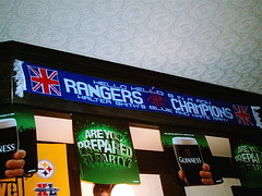 Yeah, That's Right. (jessica_in_to) Tags: cambridge ontario canada pub glasgow banner rangers rfc dukeandduchess