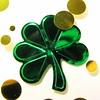 Shiny Shamrock (jciv) Tags: desktop wallpaper irish macro green gold foil confetti clover shamrocks stpatricks shamrock stpatricksday 430ex file:name=img7212
