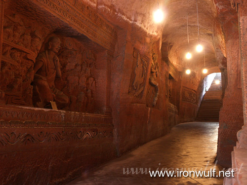 Relief Sculptures of Buddhist legends Tunnel