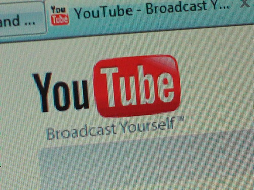Youtube logo by codenamecueball, on Flickr