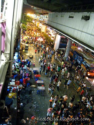 water festival crowd in bangkok