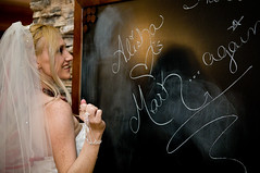 I like writing on things! (lishagisha) Tags: wedding mark sash gown alisha applered decou