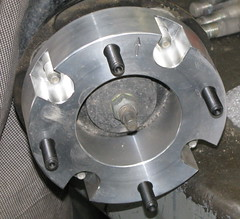 Closeup of front spacer.