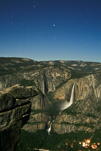 Photo of the Day: Yosemite Falls at Night by Edie Howe-Byrne