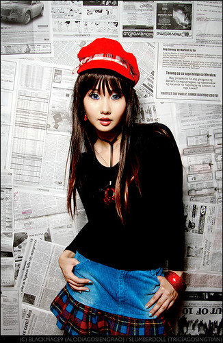 alodia as a newspaper girl