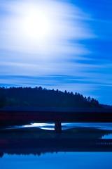 Vieux Pont (Ian David Blüm) Tags: longexposure trees night clouds forest reflections river geotagged ottawa fullmoon nighttime nightime gatineau wakefield idb geo:lat=45646868 geo:lon=75918982