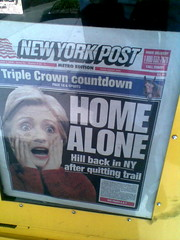New York Post Hillary Home Alone cover