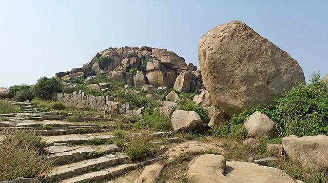 Steps and Wall, Hampi
