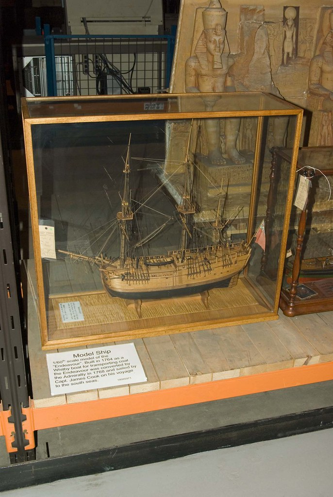 Model of Capt James Cook's ship Endeavour