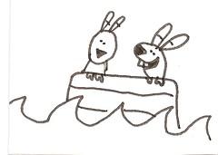 A wagon boat!